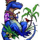 T Rex Loves Ukulele by piyastudios