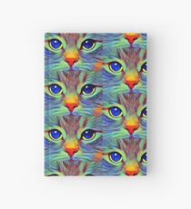 Art cat face Hardcover Journal