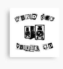 World Off Volume Up Canvas Print