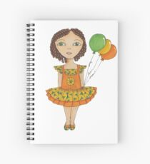 Joy, Love, Peace, Green eyed girl with curls. Spiral Notebook