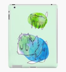 Goofy Watercolor Cats iPad Case/Skin