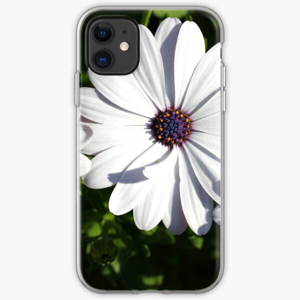 Purple and White Daisys iPhone Soft Case