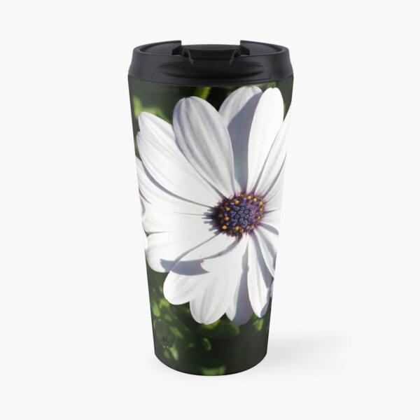 Purple and White Daisys Travel Mug