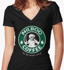 Devil's Drink Women's Fitted V-Neck T-Shirt