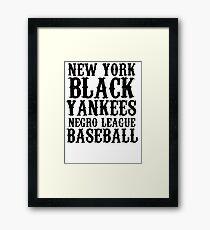 new york black yankees nego league baseball shirt mug Framed Print