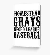 HOMESTEAD GRAYS T-SHIRT NEGRO LEAGUES BASEBALL Greeting Card