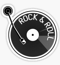 Rock and Roll Vinyl Record Sticker