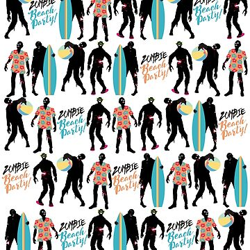 Zombie beach party pattern summer fun by BigMRanch