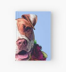 Dog in Flowers Hardcover Journal
