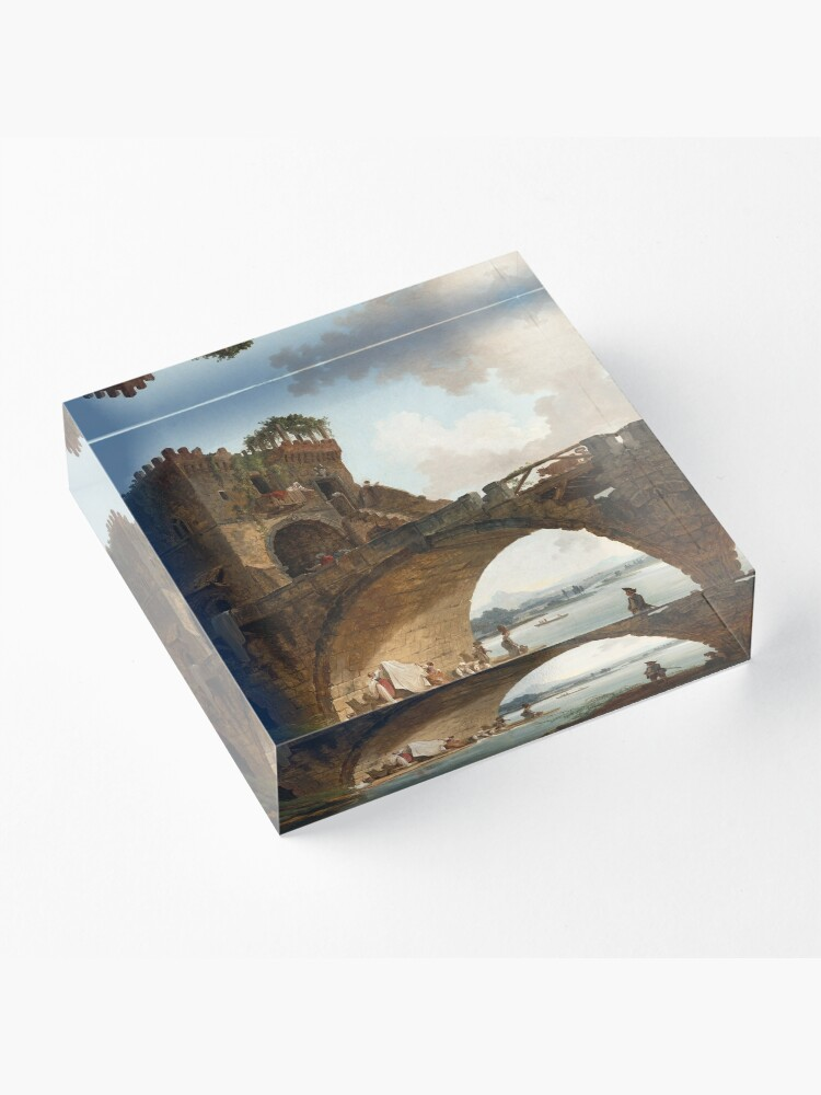 Alternate view of  The Ponte Salario Oil painting by Hubert Robert Acrylic Block