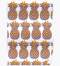 Orange & Blue Pineapple 2 Poster