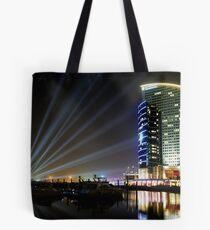 Dubai Intercontinental Hotel at night Tote Bag