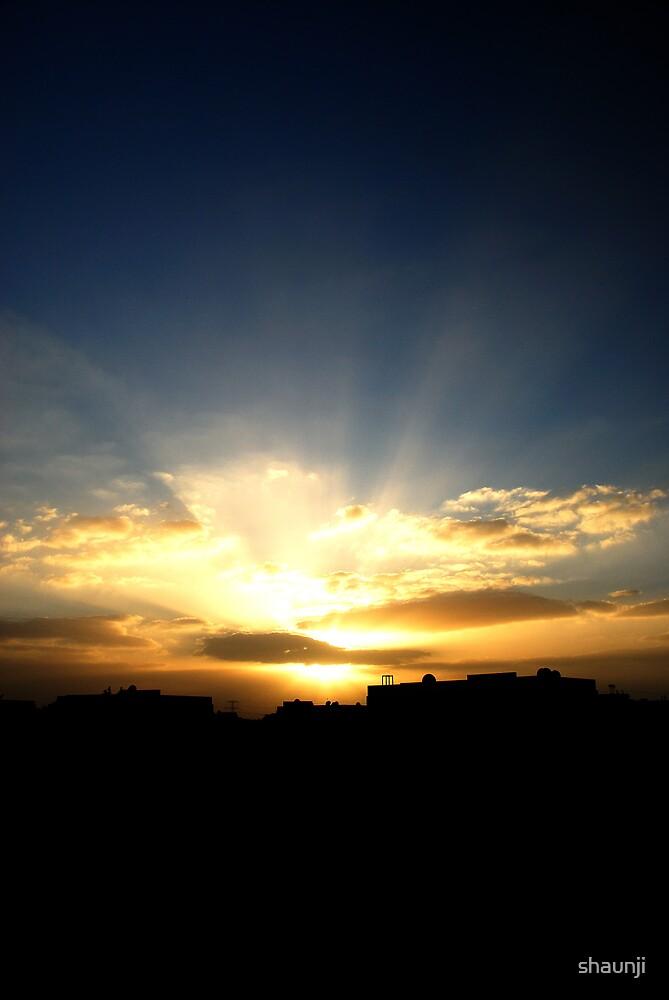 arab city sunset by shaunji