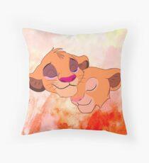 Simba and Nala Throw Pillow