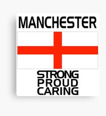 Manchester Strong Proud Caring Canvas Print