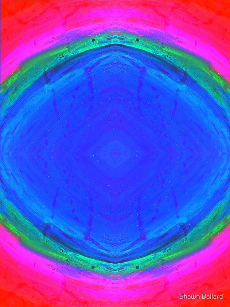 Psychedelic Sunburst - Bright Pink & Blue by Shawn Ballard