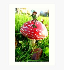 Make A Wish It Can Come True! - Mushroom & Elf Art Print
