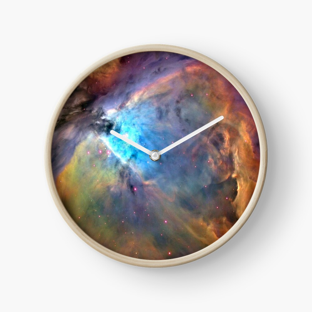 Orion Nebula Space Galaxy, RBSSG Clock