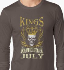 Kings Are Born In July Tshirt T-Shirt  T-Shirt