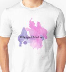 keep your head up gradient splatter Unisex T-Shirt
