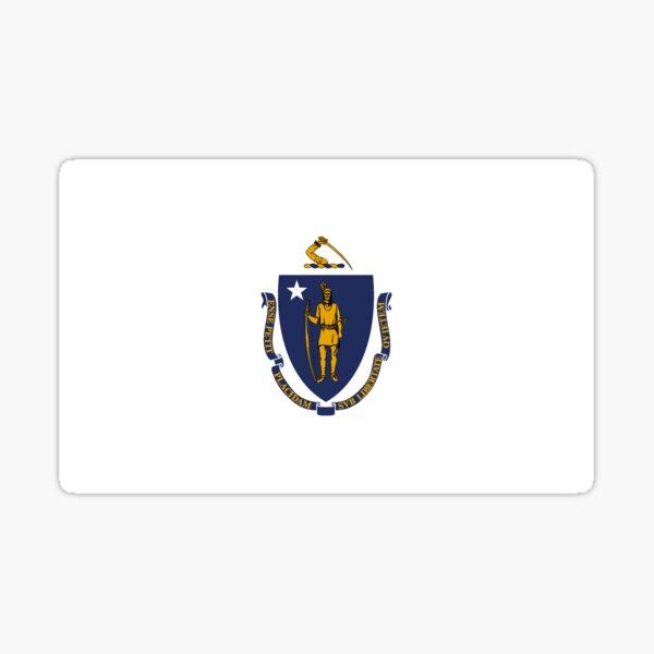 Massachusetts Flag Sticker