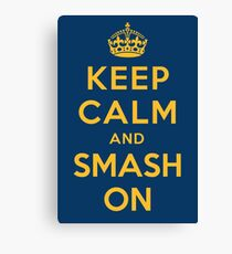 Nashville Predators - Keep Calm (gold on blue) Canvas Print