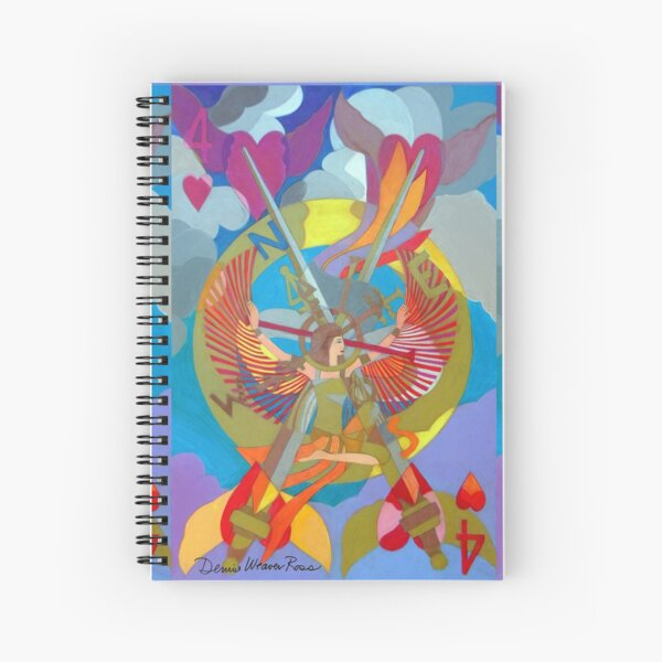 On the Four Winds Does My Heart Fly Spiral Notebook