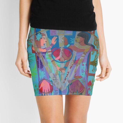 Five of Ringing Hearts Mini Skirt