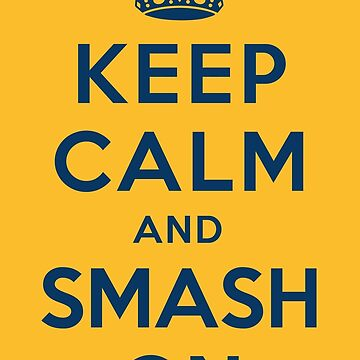 Nashville Predators - Keep Calm (blue on gold) by joshunter