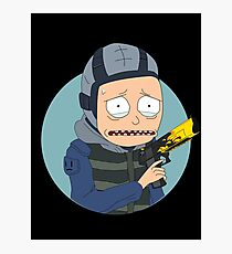 Rick and Morty in CSGO! Photographic Print