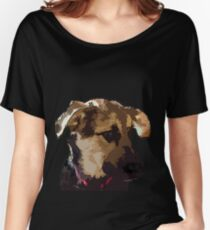 German Shepherd Puppy Face -Tri-Color Women's Relaxed Fit T-Shirt