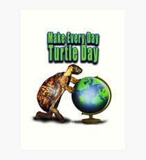 Turtle Day Art Print
