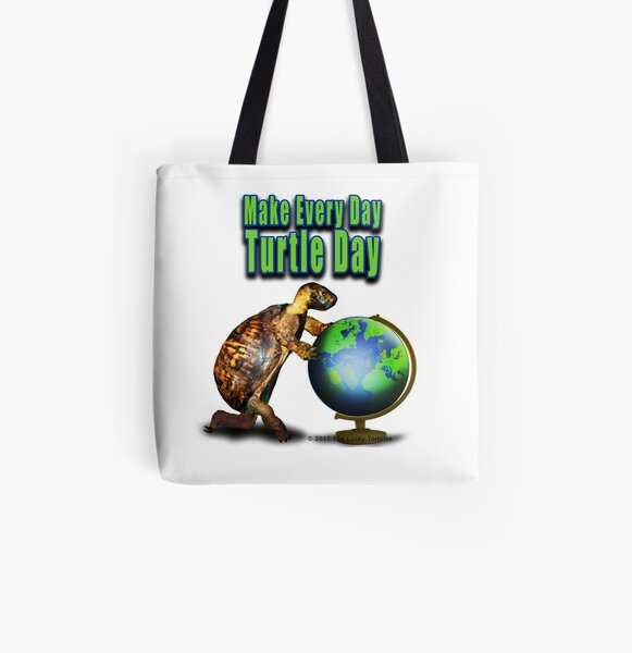 Turtle Day All Over Print Tote Bag