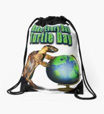 Turtle Day Drawstring Bag