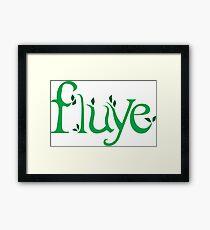 Fluye Eco Framed Print