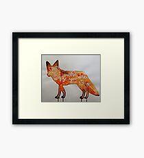 Watercolour Fox - Stand Tall Framed Print