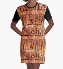 I Eat Bacon Graphic T-Shirt Dress