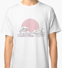 sun sunset and waves Classic T-Shirt