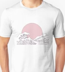 sun sunset and waves T-Shirt