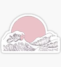 sun sunset and waves Sticker
