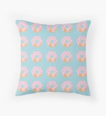 Sweet Doughnuts with Pink Icing Throw Pillow