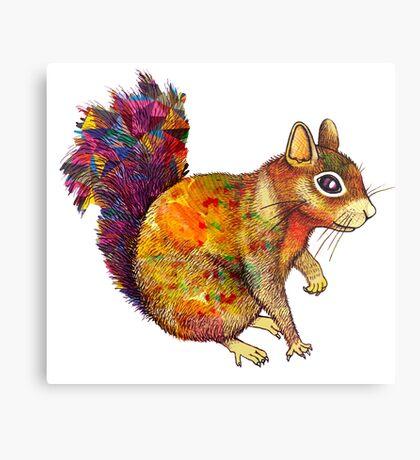 Squirrel Art Metal Print