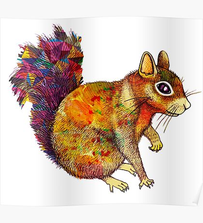 Squirrel Art Poster