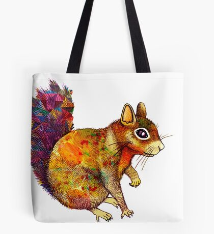 Squirrel Art Tote Bag