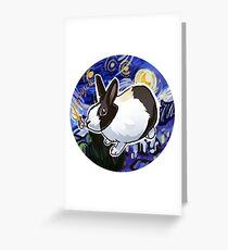 Van Dutch the Artist Bunny Greeting Card