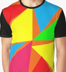 Multi color Triangle Design Graphic T-Shirt