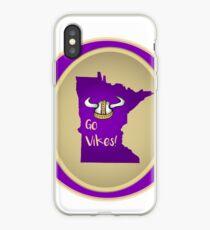Vikings:  Purple & Gold! iPhone Case