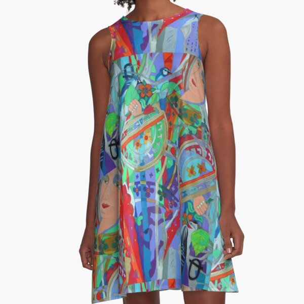 Queen of the Birch Trees A-Line Dress