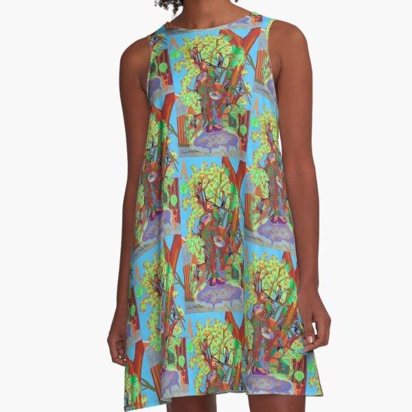 Apogee of an Apricot Tree A-Line Dress
