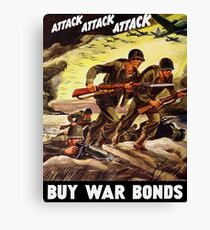 Buy War Bonds -- WW2 Propaganda Canvas Print